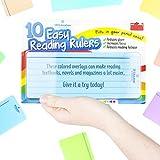 10 x Lesestreifen in verschiedenen Farben - Lesehilfe bei Dyslexie ADHS oder visuellem Stress