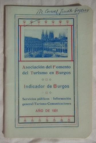 Folleto Publicidad - Advertising Brochure: INDICADOR DE BURGOS.