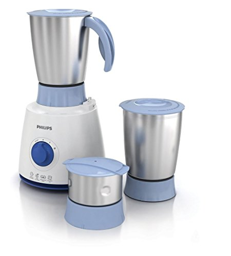 Philips Daily Collection HL7610/04 500-Watt 3 Jar Mixer Grinder (Blue)