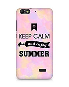 Amez Keey Calm and Enjoy Summer Back Cover For Huawei Honor 4C