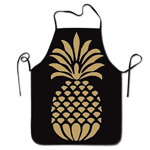 Lilly Pulitzer Farben (SHENGP Funny Apron Chef Kitchen Cooking Apron Bib Lilly Pulitzer Inspired Pineapple Cooking Easy Care Size 72CM x 52CM)