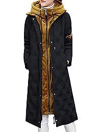 99native Femmes Hiver Manteau Chaud, dans la Longue Veste en Duvet Femm, Doudoune épaisse Femme,Nouvelle Longue Doudoune