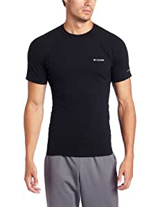 Columbia Mens Baseslayer Mid Short Sleeves Baselayer homme Noir XL