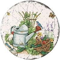 Vosarea estera de taza antideslizante resistente al calor de la montaña de cerámica - pastoral redonda (estilo al azar)