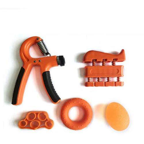 GLJJQMY Handgriff-Finger-Set Übungsgerät zur Erhöhung der Handkraft (orange) Muskelmassage-Tool