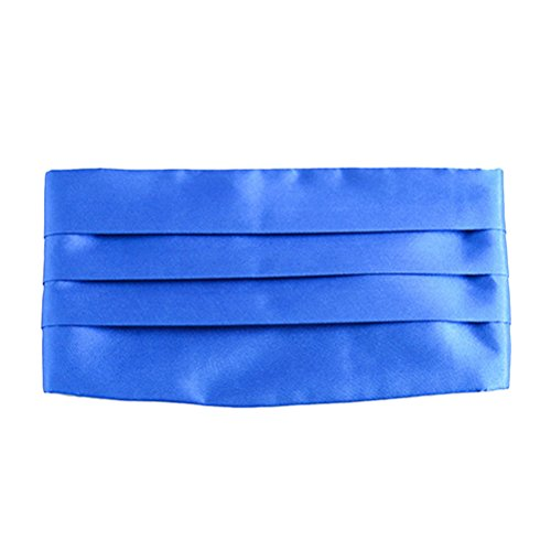 Zhuhaitf mode Men's Polyester Business Party Wedding Girdle Men's Accessory blue