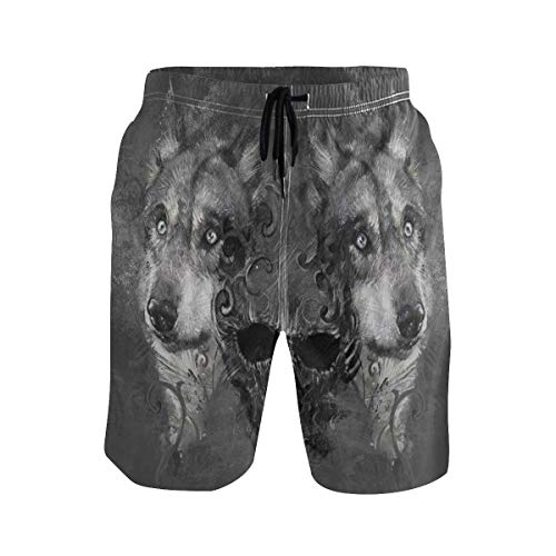 BHWYK Men's Summer ShortsAbstract Red Hot Chili Peppers in White Background,Size:XL (Red Hot Chili Peppers Baby)