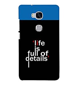 printtech Cool Quotes Back Case Cover for Huawei Honor 5X :: Huawei Honor X5 :: Huawei GR5