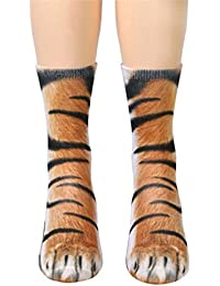 calcetines perro 3d, Sannysis calcetines de algodón calcetines térmicos Adulto Unisex botas media caña mujer
