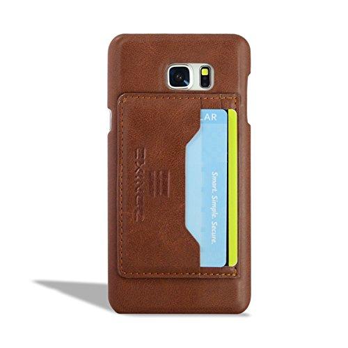 iPhone 6s Plus Étui, EXINOZ [KICKSTAND] Case Wallet Slim Cover avec support des fonctionnalités et de carte de crédit étui portefeuille pour Apple iPhone 6 Plus (2014) / iPhone 6S Plus (2015)