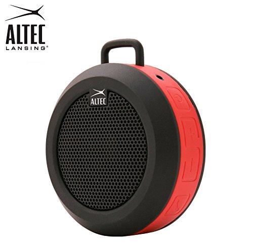 Tragbarer, wiederaufladbarer und drahtloser Bluetooth-Universallautsprecher Altec Lansing IMW355 Orbit mit 3,5 mm-Buchse und eingebautem Mikrofon (rot)