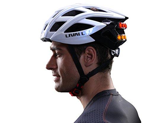 Livall Erwachsene Fahrradhelm BH60 Neu mit Easy Connect, Blinker, Musik, Headset, Navigatio, weiß, 55-61 cm, 32001001 -
