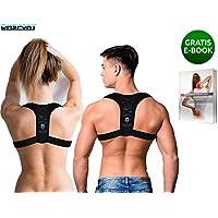 DmSport® Rückenstütze [verbesserte Version 2020] Haltungskorrektur verstellbar Damen Herren | Geradehalter Rücken Korrektur aufrechte Körperhaltung | Back Brace Posture Corrector Support Men Women