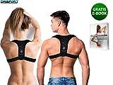 DmSport ® Haltungskorrektur - Rückenstütze mit verbessertem Konzept [2020] - Verstellbarer Rücken Geradehalter - Schultergurt Haltungskorrektur - Haltungskorrektur Rücken Damen Herren -