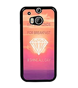 PrintDhaba Quote D-4747 Back Case Cover for HTC ONE M8 (Multi-Coloured)