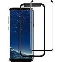 Selinaseven Galaxy S8 Schutzfolie, [2 Stück] Galaxy S8 HD Displayschutzfolie 9H Härte/Gute Qualität/Vollständige Abdeckung/Einfaches Anbringen für Samsung Galaxy S8 (Transparent)