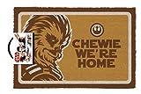 Pyramid International Felpudo Star Wars Chewie were Home, Multicolor, 60X40