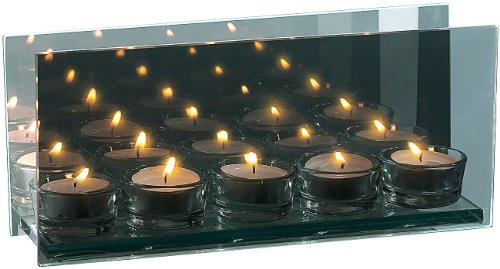 Rosenstein & Söhne Kerzenhalter: Teelichthalter aus verspiegeltem Glas für 5 Teelichter (Teelicht-Halter)