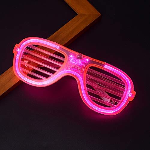 Relubby Neon Karneval GläSer, Kunststoff Shutter Flash GläSer, Kinder Erwachsene Karneval Halloween Disco Bar DJ Glowing Dekoration,Pink