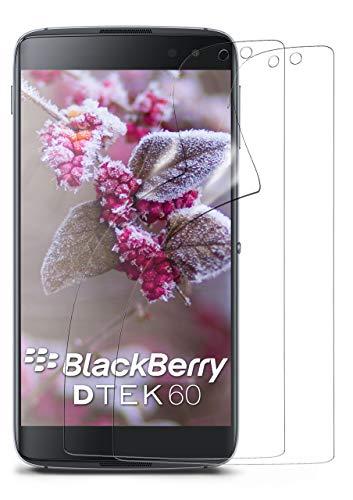 moex 2X BlackBerry DTEK60   Schutzfolie Klar Display Schutz [Crystal-Clear] Screen Protector Bildschirm Handy-Folie Dünn Displayschutz-Folie für BlackBerry DTEK60 Displayfolie