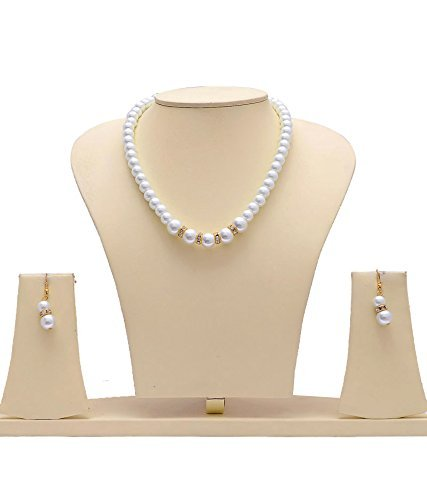 Navya Collection White Pearl Handcrafted Necklace Set For Women