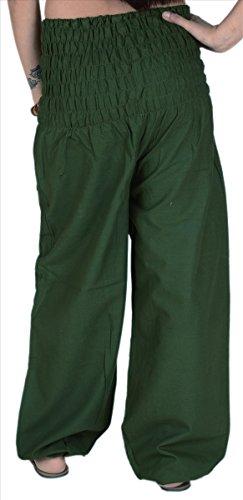 gonne e sciarpe da donna in cotone lounge/yoga pantaloni con tasche Green 2