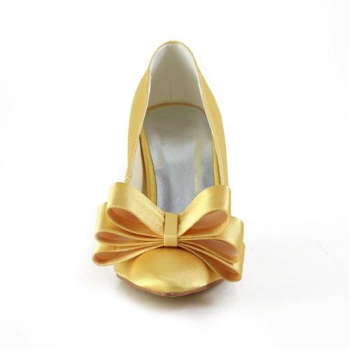 Jia Jia Wedding A3112 chaussures de mariée mariage Escarpins pour femme Or