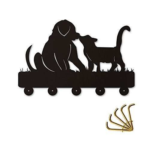 zückende Hund Katze Schlüsselhalter An Der Wand Kleidung Kleiderhaken Aufhänger Kleiderbügel Haken Tier Kleiderbügel Holzwand Kunst Decor ()