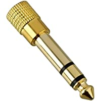 3.5mm Socket to 6.35mm Jack Plug Audio Stereo Adaptor Gold Premium Quality 6.3mm 1/4 inch Headphone Adapter