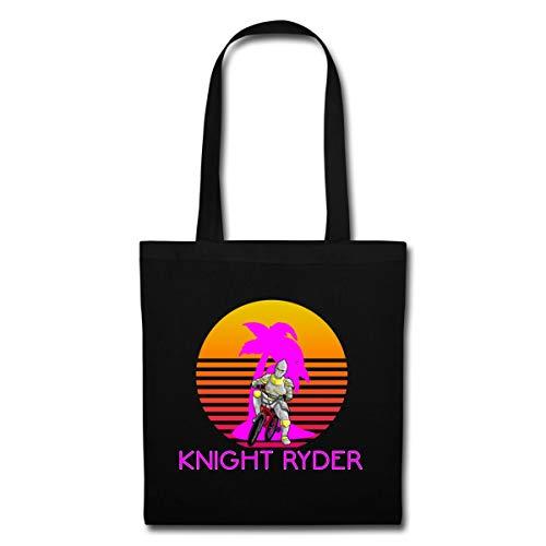1980er Neon Kleidung - Spreadshirt Knight Ryder BMX Retro Stoffbeutel,