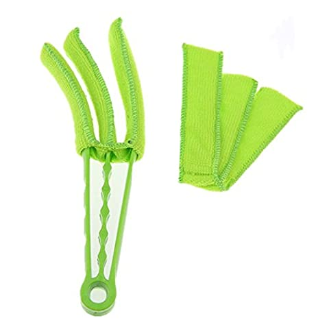 Venetian Blind Cleaner APMAX Blind Duster Window Cleaner Brush 2 pcs Removable Washable Dust Collector Cleaning Cloth Tools for Window Shutters Air Conditioner