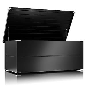 ilesto aufbewahrungsbox ben kissenbox und auflagenbox wasserdicht f r ihren garten anthrazit. Black Bedroom Furniture Sets. Home Design Ideas