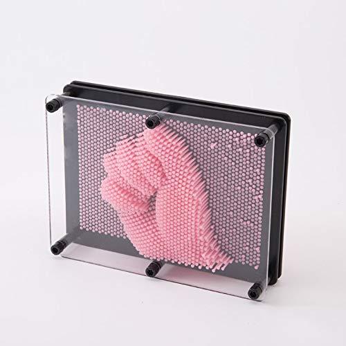BEAUTYLE Kunststoff Handabdruck, Nadel malerei, klon Hand Touch, Nadel Touch 3D Dimension Kinder Wissenschaft und Bildung Spielzeug klon Hand Modell,