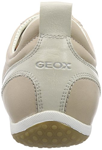 Geox D Vega A, Baskets Basses Femme Beige (LT TAUPEC6738)