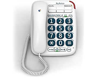 BT Big Button 200 Corded Telephone - White (Certified Refurbished)