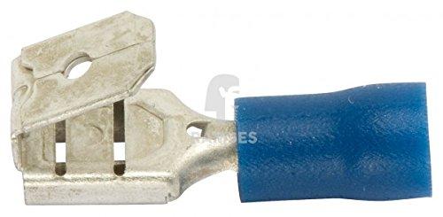 Preisvergleich Produktbild KIESUNDCO Steckverteiler teilisoliert, blau 6,3 / 1,5 - 2,5 mm² 100 Stück - PVC-Isolierung