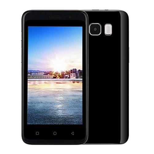 Smartphone, Yuland 5 'Android 4.4 Octa-Kern 1G + 8G 2G / GSM WiFi Doppel-SIM Bluetooth freigesetzter Handy Android, Doppel-Smartphone (Schwarz)