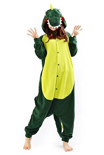 SAMGU-Dinosaurier Tier Onesie Pyjama Kostüme Schlafanzug Erwachsene Unisex (L(Körpergröße:171-178cm))