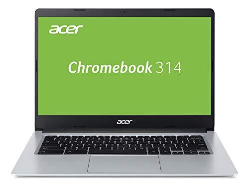 Acer Chromebook 314 (14 Zoll HD matt, Aluminium Unibody, 19,7mm flach und ultra leicht, extrem lange Akkulaufzeit, schnelles WLAN, MicroSD Slot, Google Chrome OS) Silber