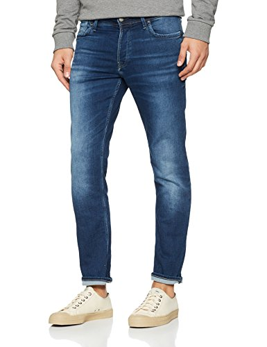 JACK & JONES Herren Slim Jeans Blau (Blue Denim)