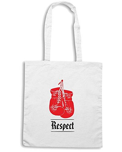 T-Shirtshock - Borsa Shopping TLOVE0076 respect Bianco