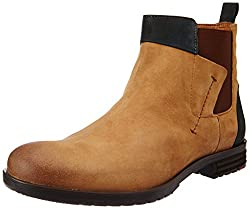 Ruosh Mens Tan Leather Boots - 9 UK/India (43 EU)
