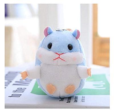 FUYUHAN Cute Cartoon Plush Toy, Hamster Colgante Bolsa Mochila Llavero Peluches Muñeca Coche Decoración Niños Regalo De Cumpleaños de FUYUHAN