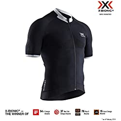 X-Bionic M/C Regulator Bike Race Zip Maillot, Hombre, Negro, S