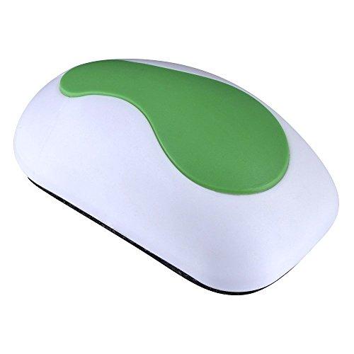 Conipa Magnetischer, Ergonomischer Löscher in Mausform (Premiumqualität) in weiß/grün zur Trockenreinigung für Whiteboards, Tafelwischer, Flipcharts, Magnettafeln, Planungstafeln und Kreidetafeln