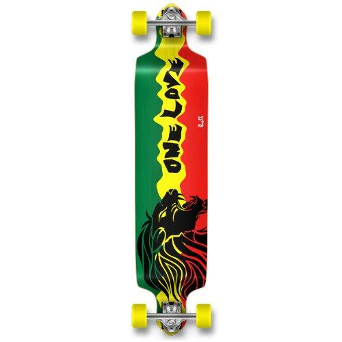 Professinal Speed Drop Down Skateboard (Rasta