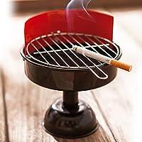 OOTB Barbecue Ashtray, Metal, Black, 12 x 12 x 16 cm