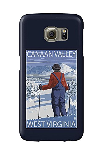 Canaan Valley, West Virginia - Skier Admiring View (Galaxy S6 Cell Phone Case, Slim Barely There)