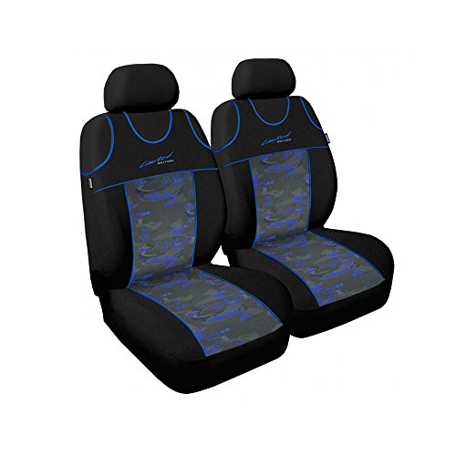 gsmarkt | universel bleu Front Housse de siège schonbezüge Housses pour siège auto protection Limited Siège auto protection avant Coussins Housses de voiture