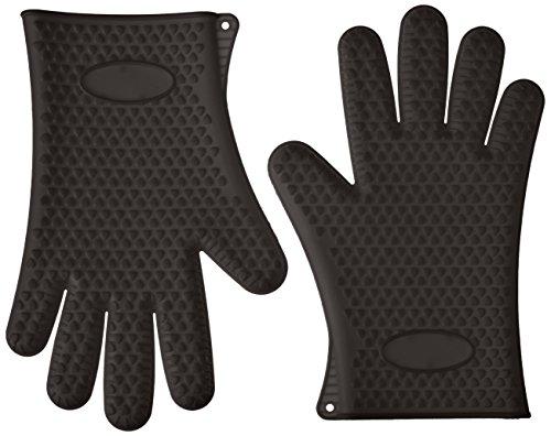 GF Pro Silikon hitzebeständig Mehrzweck Grillen BBQ Handschuhe für Kochen, Backen (gfpsg-bk)